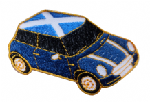 Mini One With Scotland St Andrew's Saltire Roof Car Embroidered Patch   - A532